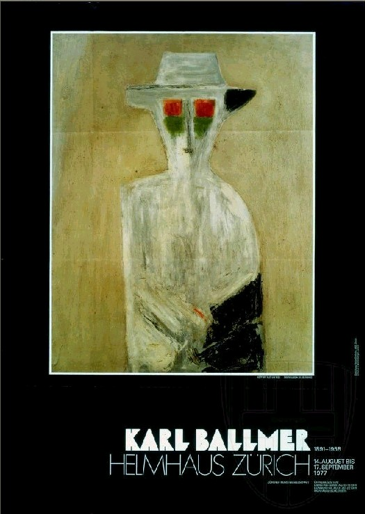Plakat Karl Ballmer, Helmhaus Zürich 1977