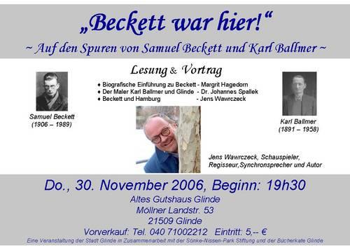 Plakat zu 'Beckett trifft Ballmer'