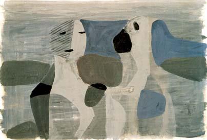 Karl Ballmer, Zwei Figuren, um 1933