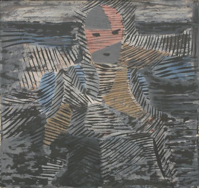 'Sitzende Figur' von Karl Ballmer