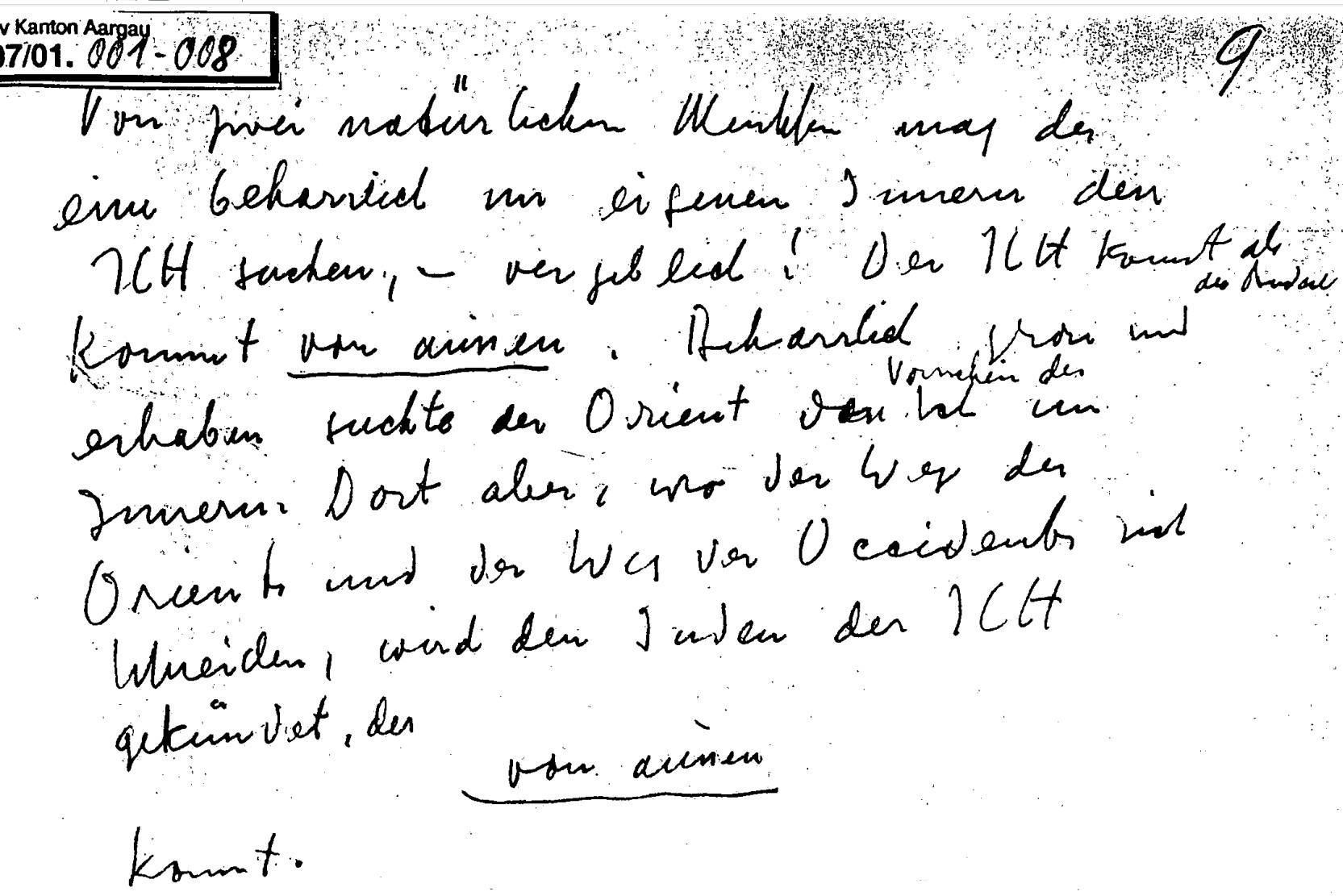 Notiz von 1946