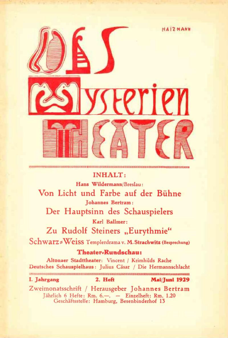 """Die Zeitschrift """"Das Mysterientheater"""""""