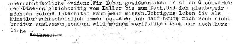 Brief von Agnes Holthusen an Karl Ballmer, 18. Dezember 1947, 1. Seite...