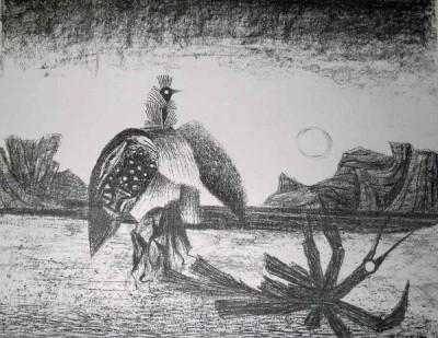 Eine von vielen Phoenix-Darstellungen von Arnold Fiedler (Privatbesitz MC)