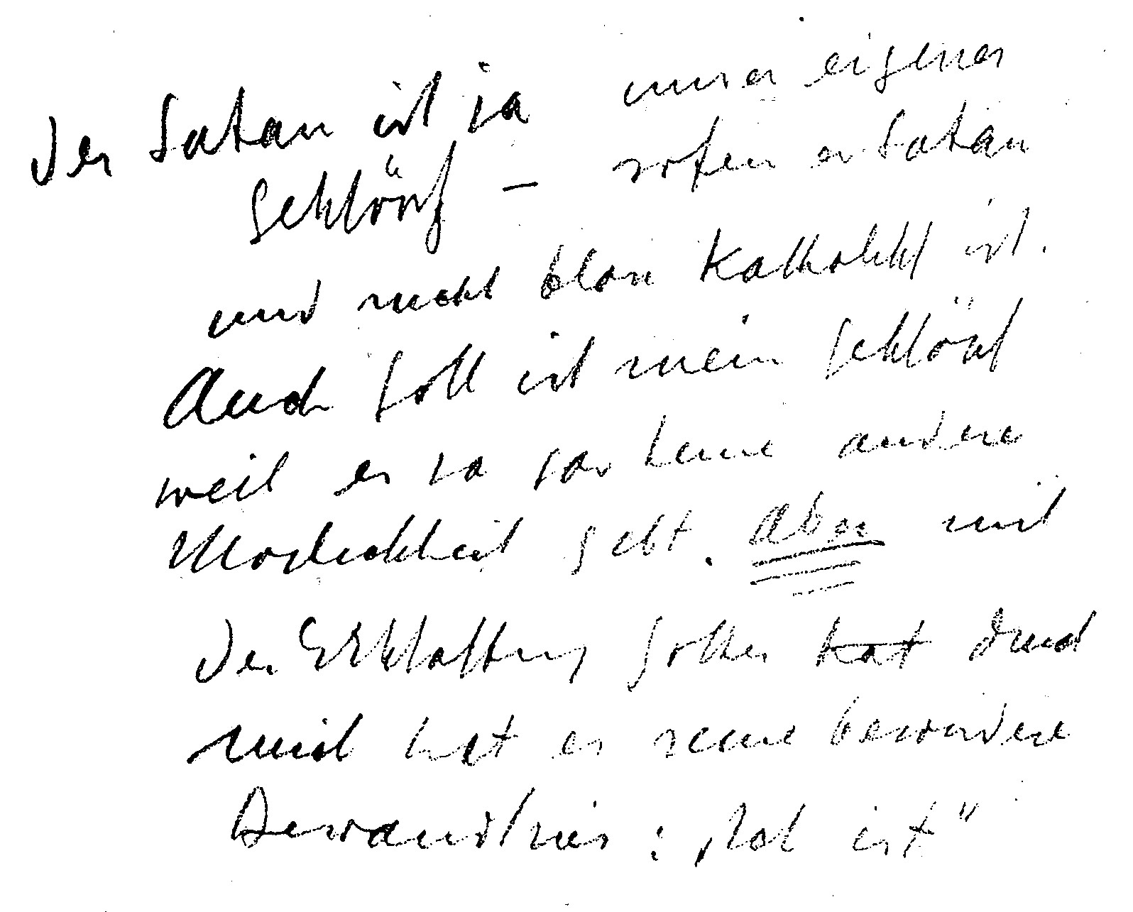 Notiz aus dem März 1945